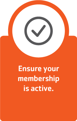 Ensure your membership is active