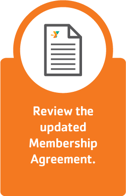 Review the updated membership agreement.