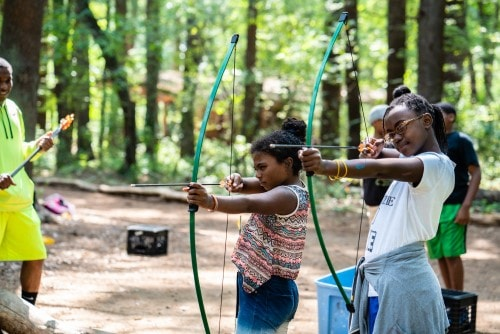 fun outdoor activities such as archery and field games